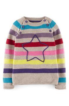 Mini Boden Stripe Stitch Sweater (Toddler Girls, Little Girls & Big Girls)