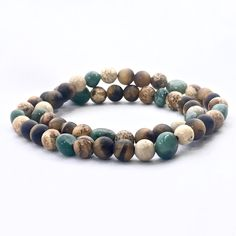 Matte Tigers Eye, Picture Jasper and Cuprite Nugget Handmade Healing Crystal Double Wrap Bracelet by Soul Sisters Designs