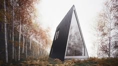 Minimalist A-Frame Cabin.  So great!  I could retire here...like tomorrow.