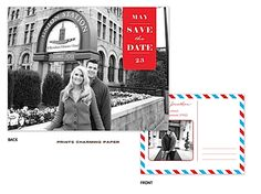 Blue and Red Postcard Save the Date! Come see for yourself! http://tastebudsontheavenue.com/
