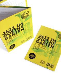 JiGG 2013 Jazz Festival for Goethe-Institut by Nuno Magro, via Behance