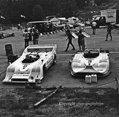(0) Jody Scheckter - Porsche 917/10 TC - Vasek Polak Racing, Inc. - (3) Steve Durst - Porsche 917/10 - Vasek Polak Racing, Inc. - Carling Can-Am Road Atlanta - 1973 Canadian-American Challenge Cup, round 2 - © Photographybyjw