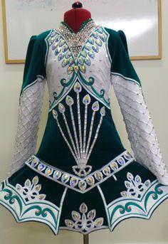 Interesting skirt treatment. Doire Dress Designs Ltd Irish Dance Solo Dress Costume