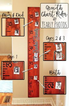 Free Diy Growth Chart Ruler Cut File To Make Your Own Life Sized What A Great Way Doent Kids And Take It With You If Move