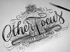 "Otherfocus -by Joachim Vu @dribbble  // Joachim Vu //  ""I'm always up to give some of my time for collaborative projects or contributions, especially if that involves drawing some letters. So when @Jennifer asked me for a lettering for her website Other Focus, I was glad to say yes. This should be available soon as a wallpaper!"""