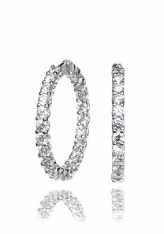 Oster Collection - A. Link Diamond Inside/Outside Hoops from Osterjewelers.com