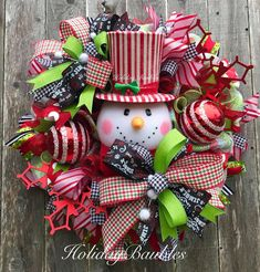 Snowman Wreath☃️ by Holiday Baubles