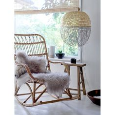 Bloomingville Rattan Rocking Chair in Natural