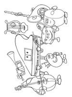 MUSICAL INSTRUMENTS 62 COLORING PAGES