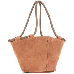 The Row Market Suede Tote ($1,925) ❤ liked on Polyvore featuring bags, handbags, tote bags, white tote bag, suede tote handbag, white tote purse, suede purse and white tote handbags