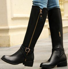 AISIMI 2015 New Arrive High Quality Genuine Leather Buckle Women Boots  Platforms Sexy Ladies Knee High Winter Boots - http://www.freshinstyle.com/products/aisimi-2015-new-arrive-high-quality-genuine-leather-buckle-women-boots-platforms-sexy-ladies-knee-high-winter-boots/