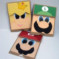 Mario Birthday Party Invitations - Set of 15 - Mario Party Supplies Super Mario Birthday, Mario Birthday Party, Super Mario Party, Boy Cards, Kids Cards, Cute Cards, Mario Und Luigi, Paper Bag Puppets, Punch Art Cards