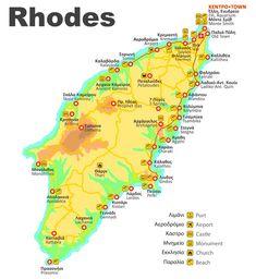 rhodose randade kaart - The world's most private search engine Greece Map, Greece Travel, Faliraki Rhodes, Greece Rhodes, Ixia Rhodes, Rhodes Beaches, Seven Wonders, France, Travel Goals
