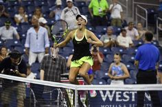Winning Moments   August 31, 2016 - Catherine Bellis celebrates her win over Shelby Rogers during the 2016 US Open at the USTA Billie Jean King National Tennis Center in Flushing, NY.