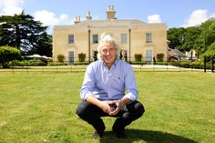 Hotelier Robin Hutson outside his high-end Lime Wood hideaway