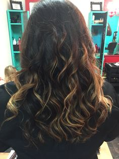 Salted Carmel ombré Also foiled in copper