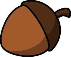 Cartoon acorn by lemmling Nouns And Adjectives, Good Luck Symbols, Free Clipart Images, Art Clipart, Felt Patterns, Ancient Symbols, Woodland Party, Woodland Forest, Seed Pods