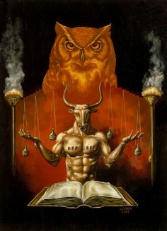 Moloch, Ba'al - Mesopotamian God Worshipped Still Today By The Worlds Power Elite. Human Oddities, Pagan Gods, Beautiful Dark Art, Satanic Art, Demon Art, Sacred Art, Dark Fantasy Art, Gods And Goddesses, Mythology