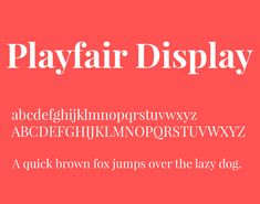 Playfair Display Font Family Free Download