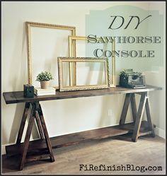 Diy Sawhorse Console by FiRefinish