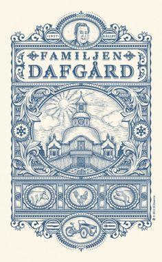 illustration for Familjen Dafgard by Jean-Charles Desevre http://dribbble.com/shots/844363-FD http://cargocollective.com/jcdesevre/ #design #typography #art