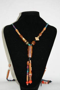 Womans Necklace Vintage Style Fashion Designer Wood Indian Boho Style