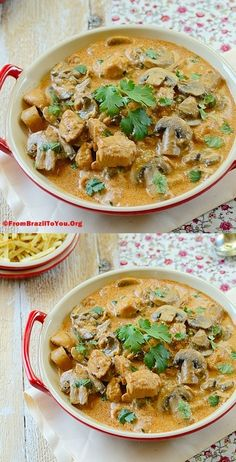CHICKEN STROGANOFF... A Hassle-free and crowd-pleasing stew!