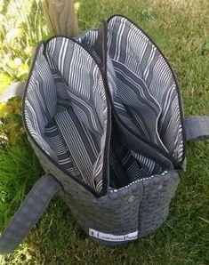 ComboBag - LonneBag Patchwork Bags, Quilted Bag, Patchwork Quilting, Bag Pattern Free, Diy Handbag, Handbag Patterns, Fabric Bags, Big Bags, Cloth Bags