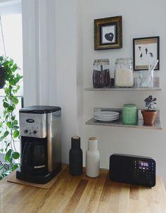 Kitchen island + coffee station.   Door Sixteen   Bloglovin'