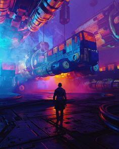 """""""D'ici à nulle part"""": La superbe science-fiction post-apocalypse et Cyberpunk Concept Art par Polygonatic - Arte Cyberpunk, Cyberpunk 2077, Cyberpunk Tattoo, Cyberpunk Aesthetic, Cyberpunk Girl, Cyberpunk Character, 3d Character, Character Concept, Arte Sci Fi"""