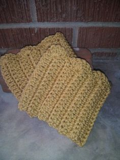 Crochet Boot Cuffs by thecraftysqueeble on Etsy, $8.00