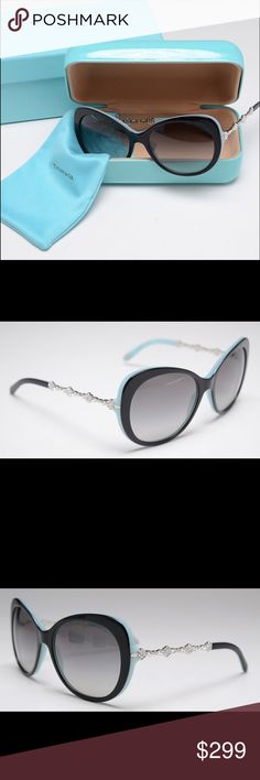 fae1f8f7b2a Tiffany   Co Sunglasses with Case ITEM DETAILS A pair of Tiffany   Co.  sunglasses featuring two tone blue and black frames