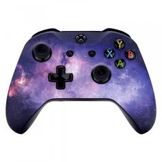 """""""eXtremeRate Hydro Dipped Soft Touch Front Housing Shell Faceplate Cover for Xbox One S & Xbox One X Controller (Nebula Galaxy) -"""" Custom Xbox One Controller, Xbox Controller, Consoles, Playstation, Videogames, Nintendo, Xbox One S, Xbox 360, Xbox One Console"""