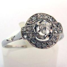 Bague art déco diamants 702 - Ancienne bague de fiançailles