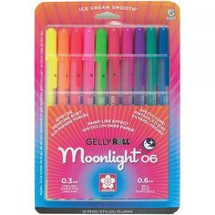 Gelly Roll Moonlight Fine Point Pens 10 pcs Pack