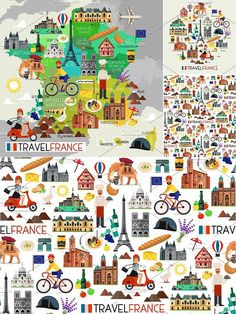 France Travel Icons.. Travel Icons