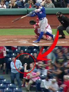 ¡Atrapó una bola de béisbol mientras sostenía a su bebé! ¿Te ha gustado este video? ¡No te olvides de compartir! #Entretenimiento #Entertainment #Noticias #News