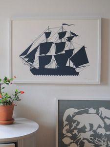 Image of Ship Print