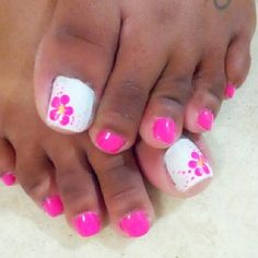 bling toe nail | Toe Nail Art – Early Summer Toes