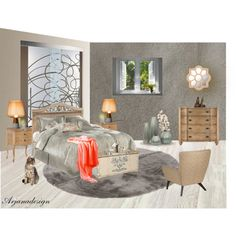 Just a Bedroom, created by arjanadesign on Polyvore