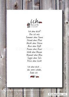 Druck/Wandbild/Print: Für Freunde und Verliebte von Die Persönliche Note auf DaWanda.com