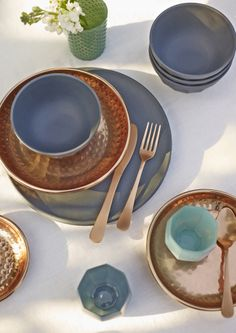 Form our latest photo shoot, copper plates and cutlery #handpicked