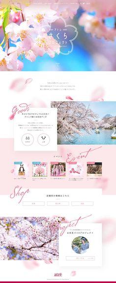 Header Design, Web Banner Design, Web Layout, Layout Design, Web Japan, Beautiful Web Design, Web Colors, Leaflet Design, Spring Design