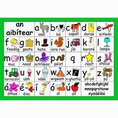 The alphabet Gaeilge