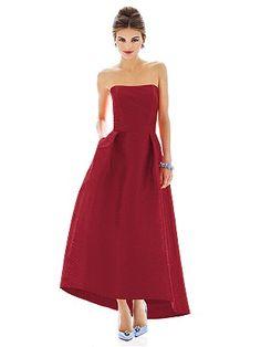 Alfred Sung Style D581 in Barcelona #PatsysBridal #AlfredSung #bridesmaid www.patsysbridal.com