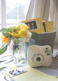 love the idea of using the instax polaroid for memories with a note to baby or note to the mommy-to-be