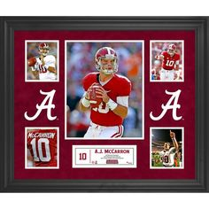 AJ McCarron Alabama Crimson Tide Fanatics Authentic Framed 5-Photograph Collage - $129.99