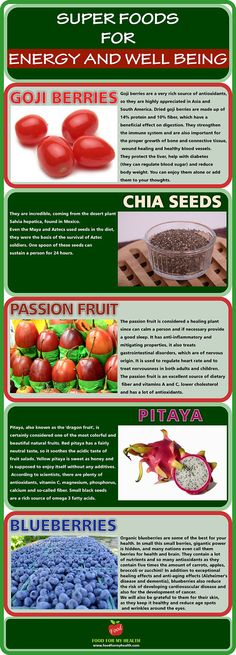 superfoods for energy and well being