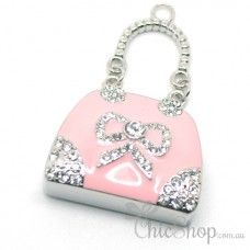 Pink Cute Handbag-Shaped Jewelry Designer USB Flash Drive 4GB