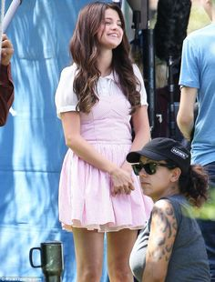 Aww! you looks way cute Sel... :-) #SelenaGomeez #fashion #music and #movies  Showing her sweet side: Selena Gomez wore a candy striper uniform to film Feed the Dog today